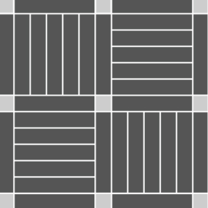 Squares with block highlight
